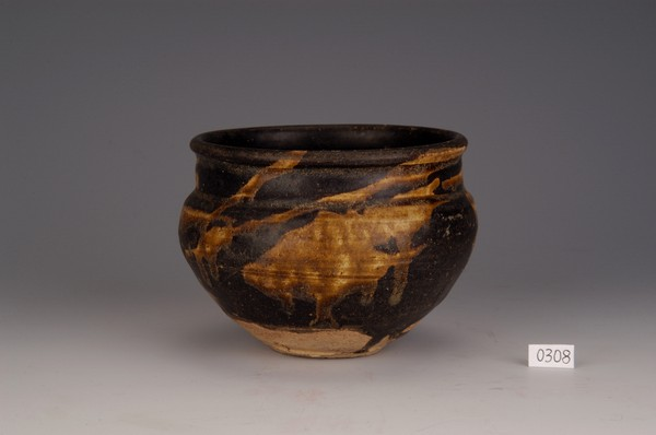 宋吉州窑花釉罐