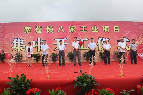 紫蓬镇八家单位集中开工