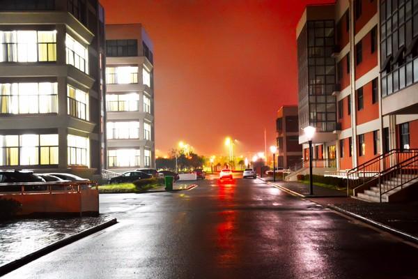 教学区夜景