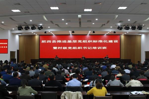 肥西县按照首年达标不低于60% 奋力推进基层党组织标准化建设
