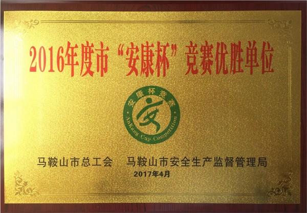 公司连获两项市、县级安全生产工作荣誉