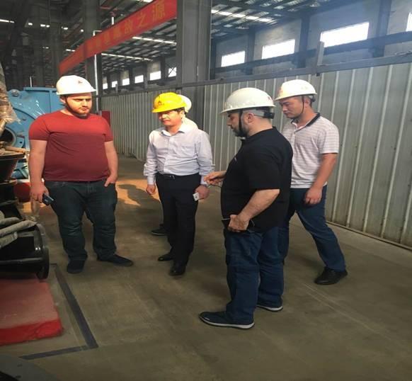 土耳其最大的轧钢厂Tosyali 公司来我司考察