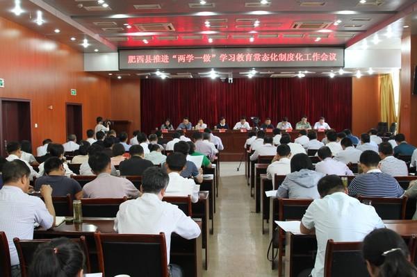 """肥西县召开推进""""两学一做""""学习教育常态化制度化工作会议"""