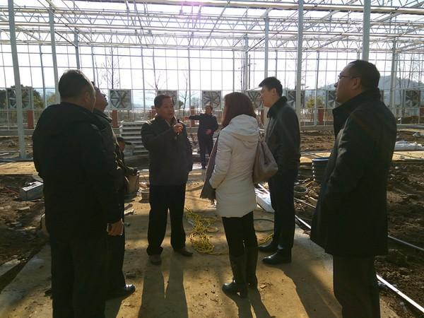 南京农业大学到基地考察农业实践教学