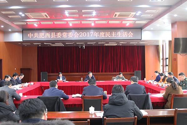 省委常委、市委书记宋国权到肥西指导肥西县委常委会民主生活会