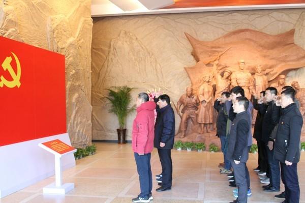 县委组织部党支部赴蜀山革命传统教育基地开展主题党日活动