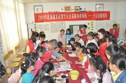 肥西县文化馆开展文化志愿服务进校园活动