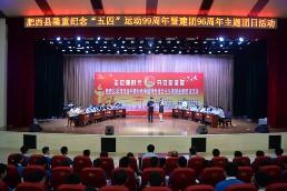 肥西县举行主题团日活动