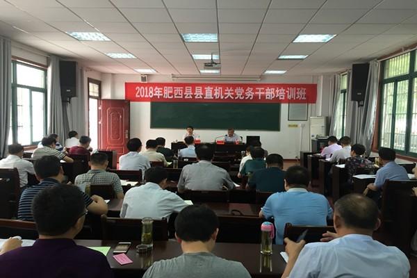 肥西县举办县直机关党务干部培训班