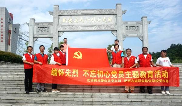 """肥西县社会组织党组织联合开展""""七一""""主题教育活动"""