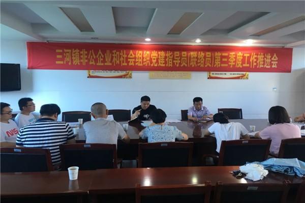 三河镇召开非公企业和社会组织党建工作指导员(联络员)第三季度工作推进会