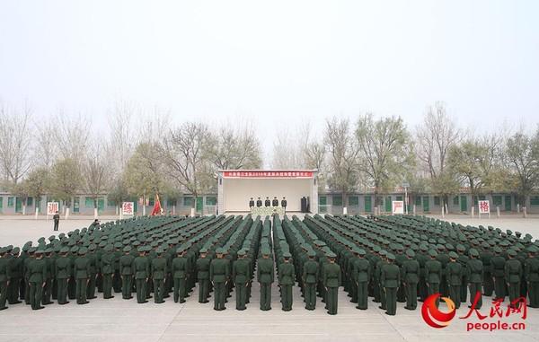 武警北京总队新兵三大队2019年度新兵授衔仪式