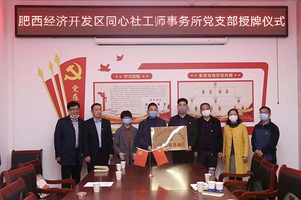 肥西经开区:首家社工组织党支部成立
