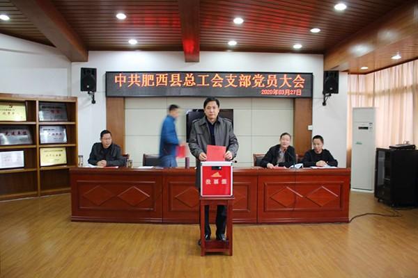 县总工会党支部召开党员大会