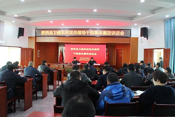 肥西县卫健委切实发挥党组织引领卫健工作发展