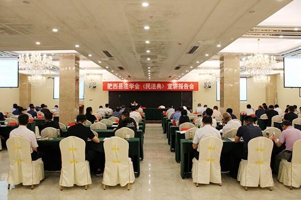 肥西县举行学习贯彻《民法典》专题报告会