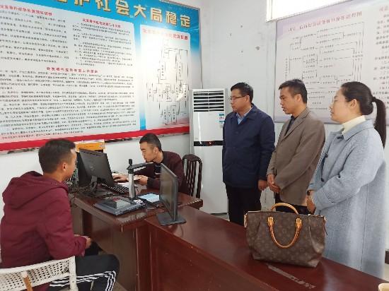 淮北市区领导到朔里镇督导退役军人信息采集工