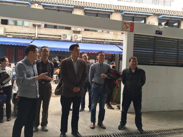 县政协副主席徐治国对我县农贸市场管理体制机制进行调研