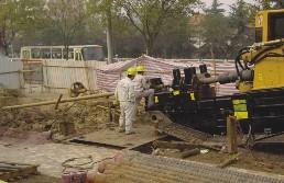 穿越南淝河供电套管铺设导向孔施工
