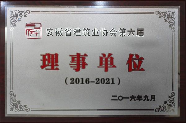 安徽省建筑业协会第六届理事单位