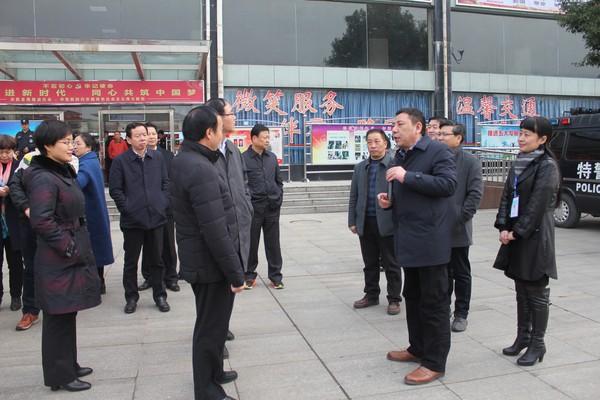 省委文明办一行对客运南站创建文明城市工作测评