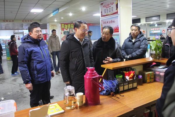 市长叶露中莅临客运南站督导暴雪冰冻天气 道路运输防范工作