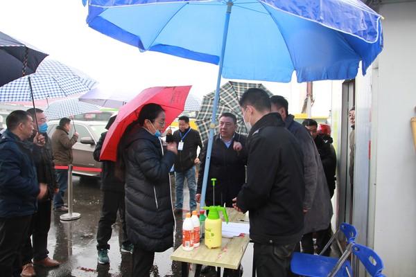 王嵐副市長赴客運總站督導新型冠狀病毒感染的 肺炎疫情防控工作