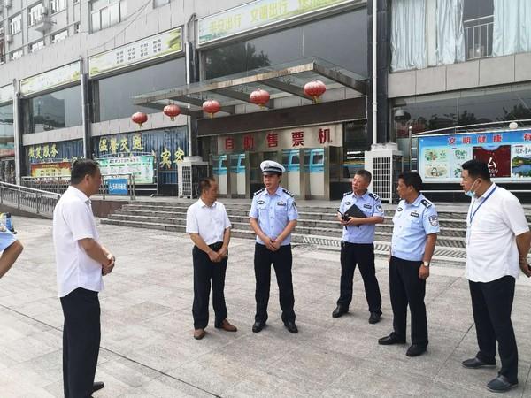 市交警支隊來客運南站檢查交通安全工作